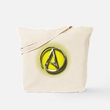 Atheist Logo (yellow) Tote Bag