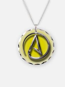 Atheist Logo (yellow) Necklace