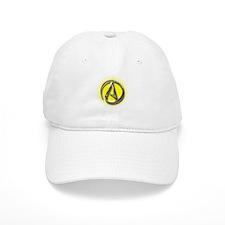 Atheist Logo (yellow) Baseball Cap