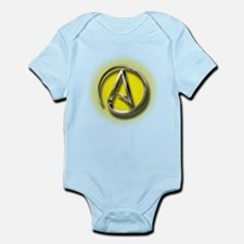Atheist Logo (yellow) Infant Bodysuit