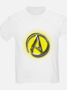 Atheist Logo (yellow) T-Shirt