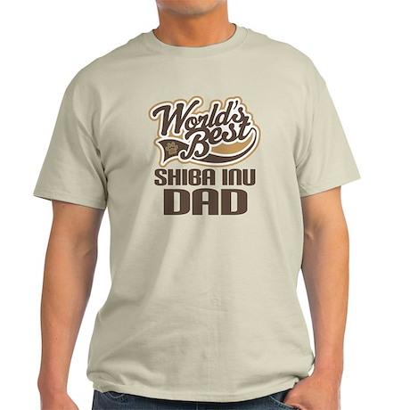 Shiba Inu Dad Gift Light T-Shirt