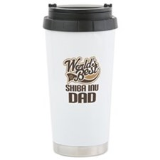 Shiba Inu Dad Gift Travel Mug