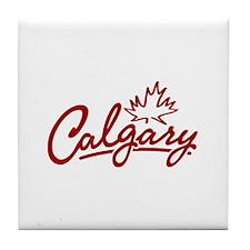 Calgary Leaf Script Tile Coaster