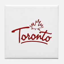 Toronto Leaf Script Tile Coaster