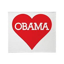 I Heart Barack Obama Throw Blanket