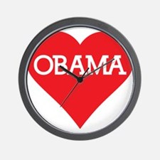 I Heart Barack Obama Wall Clock
