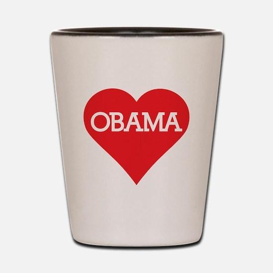 I Heart Barack Obama Shot Glass