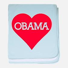 I Heart Barack Obama baby blanket