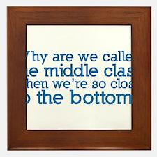 The Bottom Class Framed Tile
