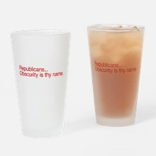 Republican Obscurity Drinking Glass