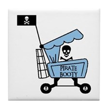 PIRATE BOOTY Tile Coaster