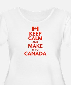 Keep Calm and Make It To Canada T-Shirt
