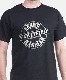 Certified Snake Handler Black T-Shirt