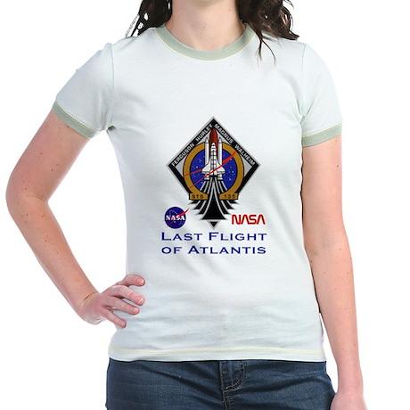 Last Flight of Atlantis Jr. Ringer T-Shirt