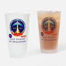Last Flight of Discovery Drinking Glass