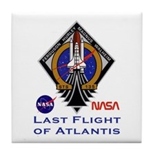 Last Flight of Atlantis Tile Coaster