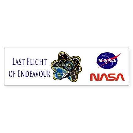 Last Flight of Endeavour Sticker (Bumper)