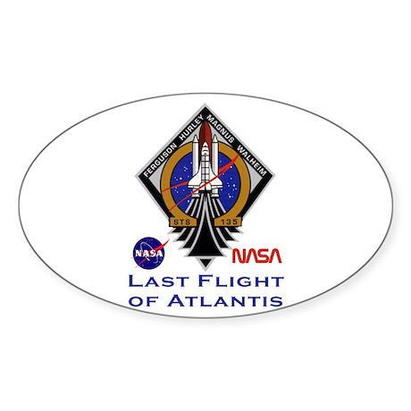 Last Flight of Atlantis Sticker (Oval)