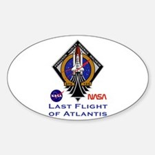 Last Flight of Atlantis Sticker (Oval)