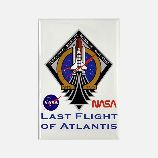 Last Flight of Atlantis Rectangle Magnet