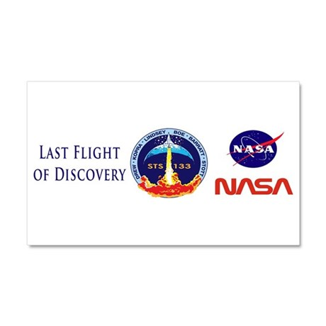 Last Flight of Discovery Car Magnet 20 x 12