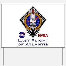 Last Flight of Atlantis Yard Sign