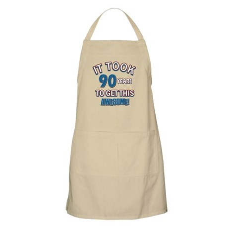 Awesome 90 year old birthday design Apron