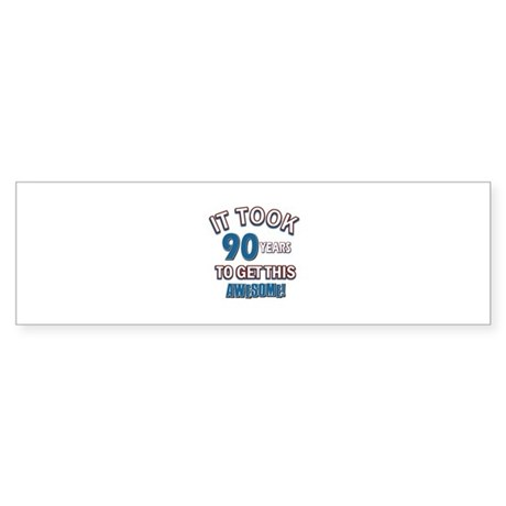 Awesome 90 year old birthday design Sticker (Bumpe