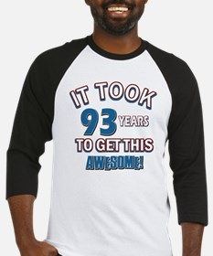 Awesome 93 year old birthday design Baseball Jerse
