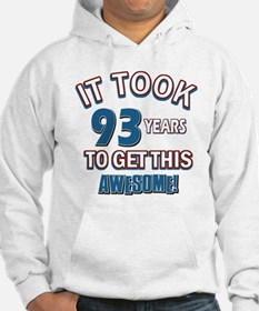 Awesome 93 year old birthday design Hoodie
