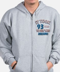 Awesome 93 year old birthday design Zip Hoodie