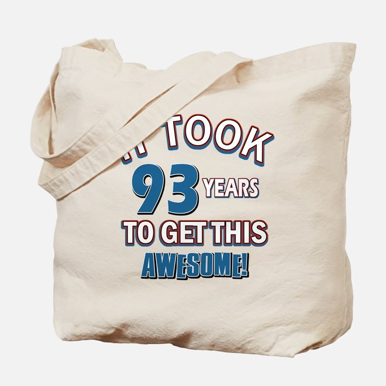 Awesome 93 year old birthday design Tote Bag