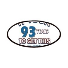 Awesome 93 year old birthday design Patches
