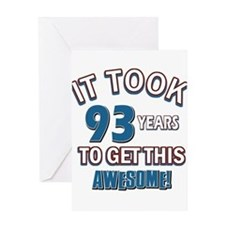 Awesome 93 year old birthday design Greeting Card