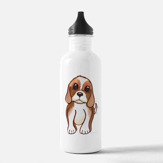 Cute beagle pup Water Bottle