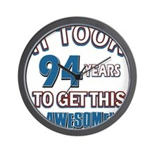 Awesome 94 year old birthday design Wall Clock