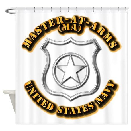 Navy - Rate - MA Shower Curtain