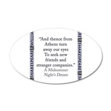 And Thence From Athens Wall Decal