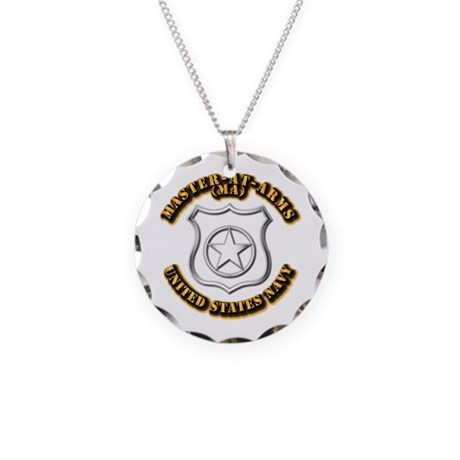 Navy - Rate - MA Necklace Circle Charm