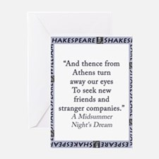And Thence From Athens Greeting Cards