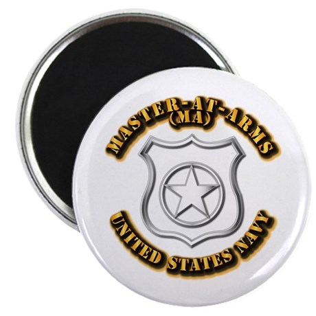 """Navy - Rate - MA 2.25"""" Magnet (10 pack)"""