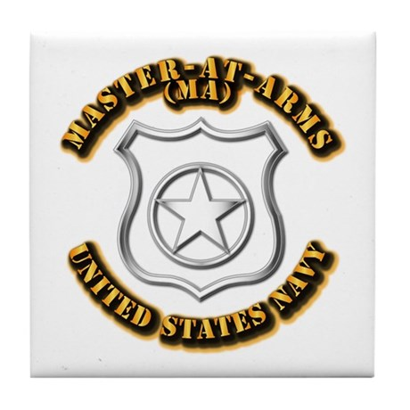 Navy - Rate - MA Tile Coaster