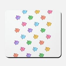 Rainbow Pig Pattern Mousepad