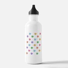 Rainbow Pig Pattern Water Bottle