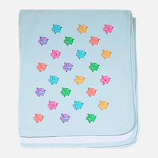Rainbow Pig Pattern baby blanket