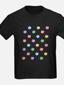 Rainbow Pig Pattern T