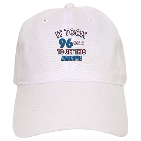 Awesome 96 year old birthday design Cap