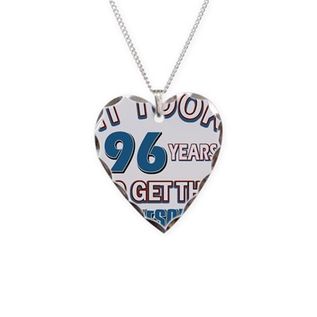 Awesome 96 year old birthday design Necklace Heart