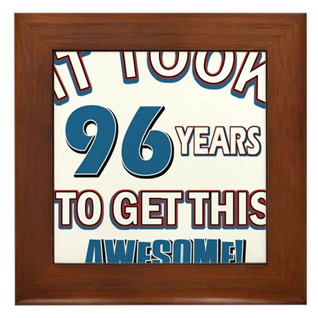 Awesome 96 year old birthday design Framed Tile